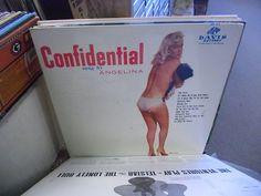 ANGELINA Confidential vinyl LP Davis Records VG+ cheesecake