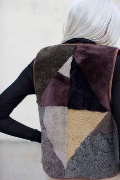 Recycled and redone shearling fur jackets by Milena Silvano. ekoturkis ja kierrätys « Outi Les Pyy