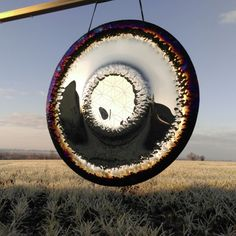 Seed of life art gong 94cm in F made by Michal Milas Sound of Soul, Art Gongs