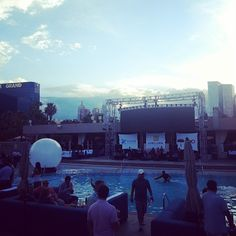 The #ACORDLOMA closing party hosted by Xuber at the Wet Republic Ultra Pool in the MGM Grand, Vegas.