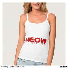 Meow Spaghetti Strap Tank Top