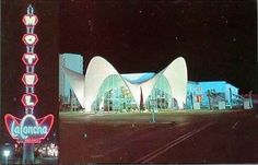La Concha Motel in Las Vegas. The reassembled lobby of this motel is now the Visitor Center at the Neon Museum!