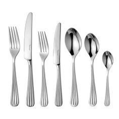 Palm 7 Piece Stainless Steel Cutlery Set, Service for 1 Robert Welch Classic Cutlery, Robert Welch, Stainless Steel Cutlery, Flatware Set, Tableware, Palm, Flutes, Place Setting, Knives