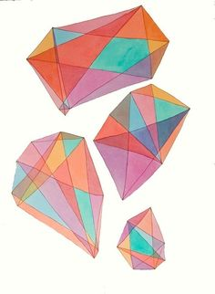We like this illustration of gems - lots of interesting colours and shapes in this. #art #inspiration