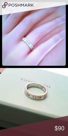 Tiffany 1837 Narrow Ring Sterling silver Tiffany 1837 narrow ring (.925) Size 5.5 Tiffany & Co. Jewelry Rings