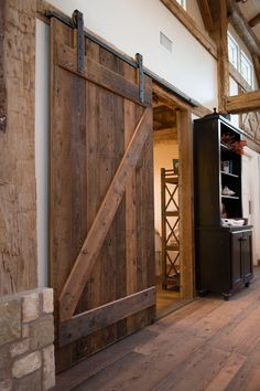 Sliding Rustic Barn Door Pinned By High Billinghurst Farm Wedding Venue
