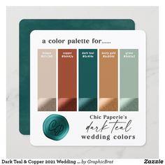 Copper Colour Palette, Gold Color Palettes, Fall Color Palette, Colour Pallette, Color Palette For Wedding, Wedding Colour Schemes, Copper Color, Christmas Colour Palette, Color Palette Green