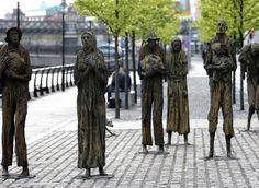 'Irish Famine' Memorial Sculpture, Dublin City Docklands, Ireland