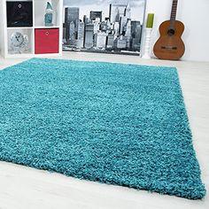 Un colour unicolour alfombra tipo Shaggy de la sala de es…