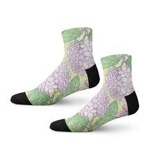 9575729be59 Purple Socks in Flower Print