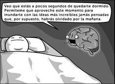 Chiste cerebro durmiendo