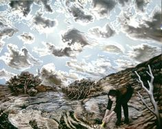 NADA ACKEL. VLADIKAVKAZ,  1999. Huile sur toile (oil on canvas),  130x163 cm.