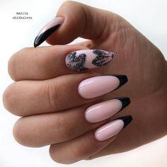 Manikűr | VK French Nail Art, French Tip Nails, Flower Nail Designs, Nail Art Designs, Tree Nails, Classic Nails, Gelish Nails, Orange Nails, Pastel Nails