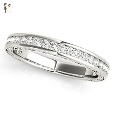 Pave Set Diamond Wedding Band - Wedding and engagement rings (*Amazon Partner-Link)