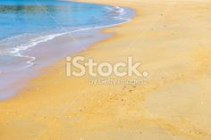 Just Sea and Sand Royalty Free Stock Photo Abel Tasman National Park, Image Now, National Parks, Royalty Free Stock Photos, Backgrounds, Sea, Make It Yourself, Yellow, The Ocean