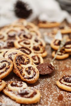 Lazy Sunday? Might we suggest these Nutella and Hazelnut Palmiers! #brunch