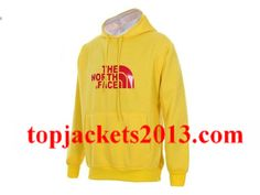The North Face Outlet Mens Half Dome Hoodie Yellow Red
