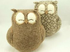 Wonderful Felt.   These owls are just cuteilsious..