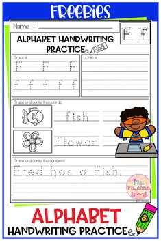 This product has 3 pages of handwriting worksheets. This product will teach children writing the alphabet letters and sentences. This product is great for Kindergarten or first graders. You can use as a classroom activities, morning work, word work and literacy centers. Kindergarten | First Grade |Reading| Writing | Grammar | Handwriting Practice | Handwriting Practice Literacy Centers | Alphabet Letters |Printables| Morning Work | homework| Free Lessons Worksheets Printable Alphabet Letters, Handwriting Alphabet, Handwriting Worksheets, Handwriting Practice, Children Writing, First Grade Reading, Morning Work, Literacy Centers, Word Work