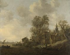 Jan van Goyen : View of a town on a river (Rijksmuseum) 1596-1656 ヤン・ファン・ホーイェン