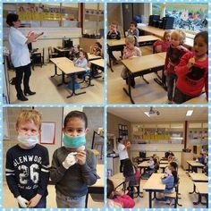 #tStartblok groep 3   De tandarts kwam ons vertellen hoe we onze tanden goed moeten verzorgen