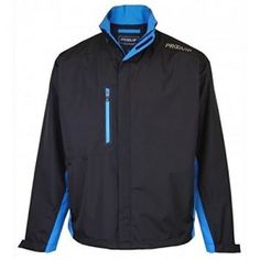 c9e1ce2bb7b ProQuip Ultralite Performance Waterproof Golf Jacket Black  Turquoise - XL Golf  Waterproofs