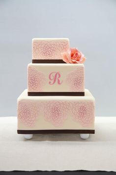 Alan's Camilla Rose Cake: Learn to Stencil Cakes like a Pro in The Secrets to Perfect Stenciling