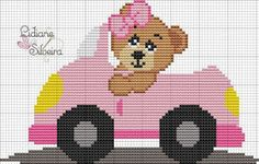 Cross Stitch Baby, Cross Stitch Charts, Cross Stitch Patterns, Pixel Crochet Blanket, Baby Blanket Crochet, Knitting Charts, Baby Knitting Patterns, Cross Stitching, Cross Stitch Embroidery