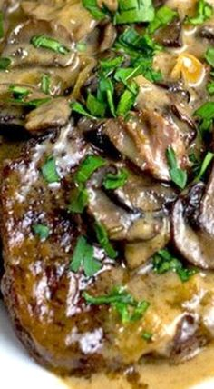Slow Cooker Swiss Steak - uses blade/chuck steak (or flat iron steak)