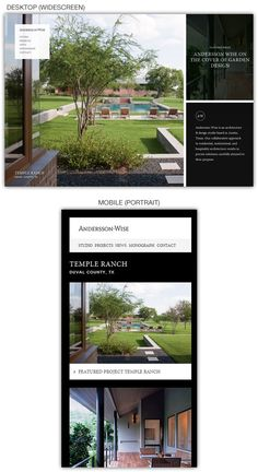 Responsive web design example: Andersson-Wise Architects  #responsive #webdesign #inspiration