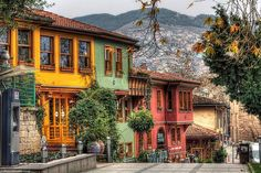 Colorful Street in Turkey
