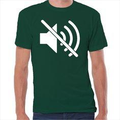 Camiseta icono silencio apple