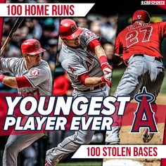 Mike Trout hits 100th homer, becomes youngest member of 100/100 club - CBSSports.com