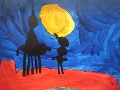 * Laat de kinderen het dak, de lucht en de maan schilderen. Daarna tekenen ze op zwart papier Sint en Piet. Dit kan de leerkracht uitknippen en op het dak plakken.
