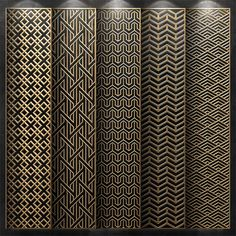 models: Other decorative objects - Decorative partition Pattern Wall, Wall Stencil Patterns, 3d Pattern, Window Grill Design, Door Design, Jaali Design, Motif Oriental, Cnc Cutting Design, Room Partition Designs