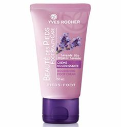 Nourishing Foot Cream by yves rocher france. $35.00. This creamy formula intensely nourishes even the driest feet.  Its plants: - Organic lavender essential oil for the well-being and comfort of your feet - Macadamia nut oil to intensely nourish  Massage the entire foot from toes to ankles.  1.7 fl.oz. Tube / 50 ml