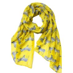 Yellow Zebra Print Scarf