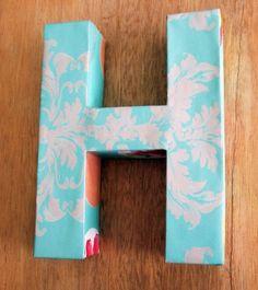 DIY 3D cardboard letter by Celementine Creative