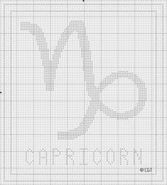 Free Printable Capricorn Zodiac Cross Stitch Chart