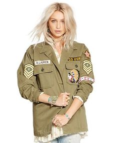 Denim & Supply Ralph Lauren Patched Field Jacket