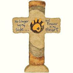 Pet Memorial Stone Grave Marker Cross Dog Cat