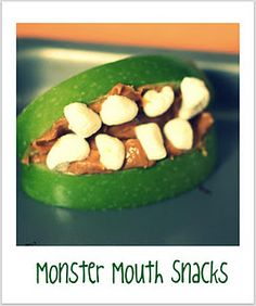 monster mouth snack.  A fun (relatively healthy, fall snack)