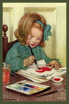 Jessie Willcox Smith - Young Girl Painting