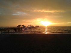 Urlaub an der Ostsee.  Sonnenaufgang in Kellenhusen