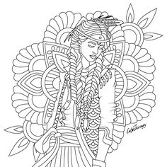 The sneak peek for the next Gift of The Day tomorrow. Do you like this one? #indian #lady ••••••••••• Don't forget to check it out tomorrow and show us your creative ideas, color with Color Therapy: http://www.apple.co/1Mgt7E5 ••••••••••• #happycoloring #giftoftheday #gotd #colortherapyapp #coloring #adultcoloringbook #adultcolouringbook #colorfy #colorfyapp #recolor #recolorapp #coloring #coloringmasterpiece #coloringbook #coloringforadults