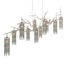 Coral Sea Chandelier with Bead Pendants