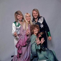 ABBA was a Swedish pop group formed in Stockholm in comprising Agnetha Fältskog, Björn Ulvaeus, Benny Andersson, and Anni-Frid Lyngstad. Abba Costumes, Frida Abba, Stock Foto, Studio Shoot, Popular Music, Greatest Hits, S Pic, Historical Photos, Pop Group