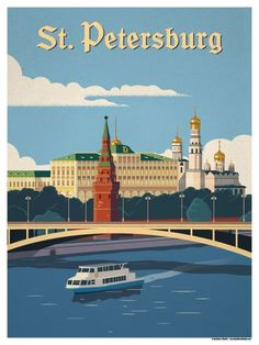 St. Petersburg Poster by IdeaStorm Studios ©2017. Available for sale at ideastorm.bigcartel.com http://mundodeviagens.com/ - Existem muitas maneiras de ver o Mundo. O Blog Mundo de Viagens recomenda... TODAS!