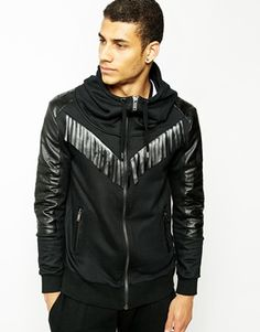 Black Kaviar Zip Thru Hoodie With Tassels