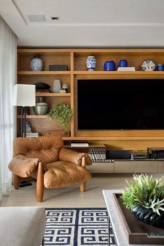 Home Room Design, Home Interior Design, Interior Architecture, Living Room Wall Units, Living Spaces, Living Room Inspiration, Home Decor Inspiration, Muebles Living, Home Tv